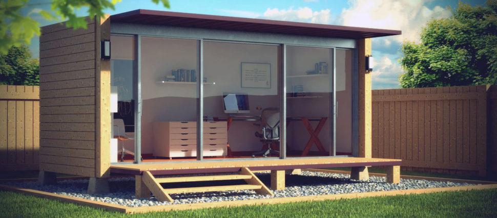 Garden office. Záhradná kancelária.